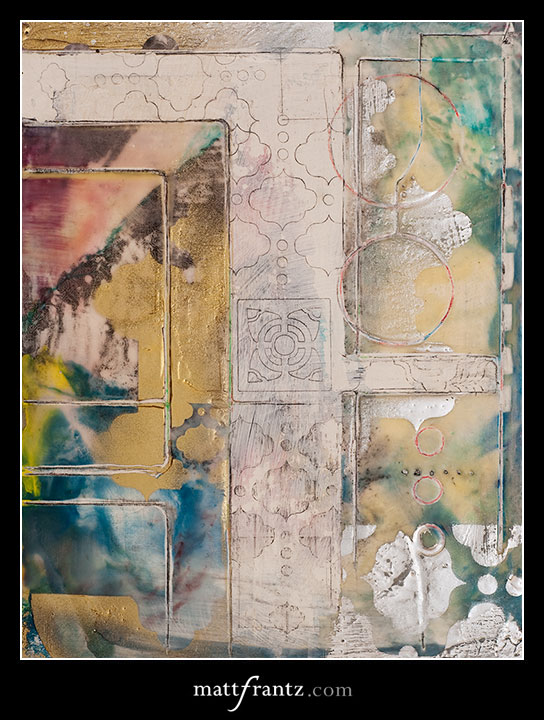 encaustic wax artwork by Matt Frantz