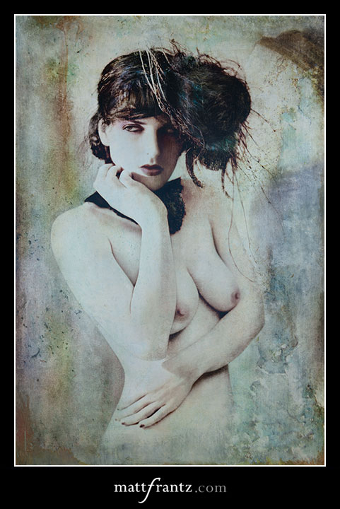 mixed media art by Matt Frantz, photo based on vintage style
