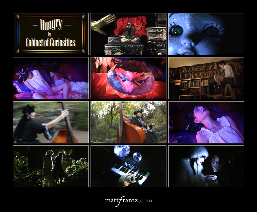 still images from cabinet of curiosities music video